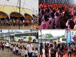 Parceria entre prefeitura e circo contempla 1300 crianças