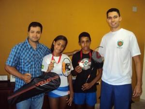 Dupla ubatubense é campeã estadual de Badminton