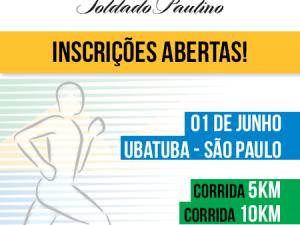 Inscrições para 17ª Prova Pedestre Soldado Paulino estão abertas