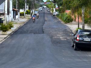 Começa o recapeamento da alternativa entre a rodovia e o Itaguá