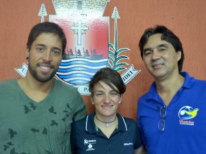 Famosa ciclista italiana está em Ubatuba para temporada de treinos