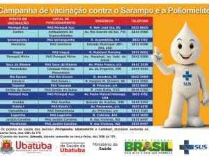 Confira as datas da Campanha Nacional de Vacinação contra Poliomelite e Sarampo