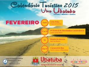 Confira o calendário turístico do mês de fevereiro em Ubatuba
