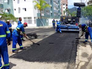 Recapeamento da ligação Centro-Itaguá está em fase final