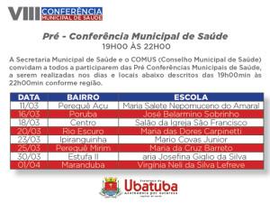 Prefeitura convida população para Pré-Conferências de Saúde