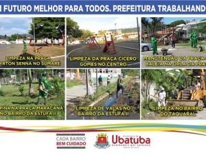 Cada bairro bem cuidado: Prefeitura realiza limpeza e capina