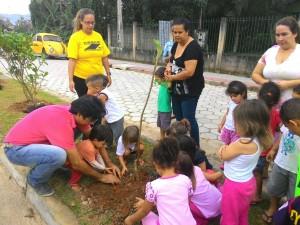 Avenida no Saco da Ribeira recebe 250 mudas de árvores de restinga