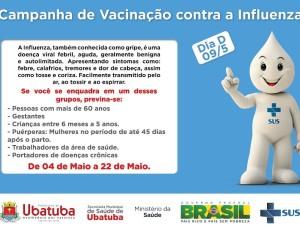 Campanha de Vacinação Contra Influenza está em andamento nos postos de saúde