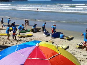 Circuito Festa do Remo de Canoa Caiçara e Stand Up começa em clima de festa no Sapê
