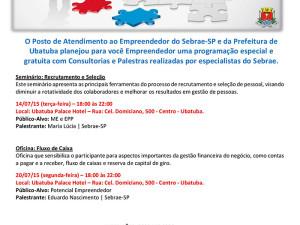 Prefeitura e Sebrae promovem consultorias e palestras gratuitas para empreendedores