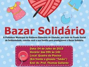 Fundo Social e Prefeitura convidam população para o Bazar Solidário 2015