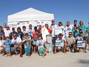Times de Ubatuba dominam abertura do Encontro Paulista de Escolas de Surf 2015