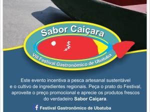 VIII Festival de Ubatuba Sabor Caiçara movimenta gastronomia da cidade no mês de agosto