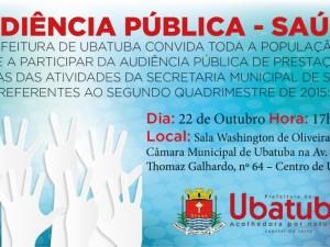 Prefeitura convida para audiência pública sobre a saúde
