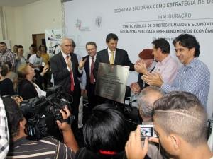 Prefeito participa de lançamento do Centro Público de Direitos Humanos e Economia Solidária de São Paulo