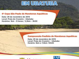 Ubatuba sedia dois últimos eventos da Federação Aquática Paulista