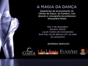 Prefeitura convida para ballet e outros eventos em dezembro