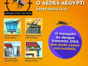 Mutirão contra o mosquito Aedes aegypti chega ao Taquaral, Sumidouro e Usina Velha neste sábado, 20
