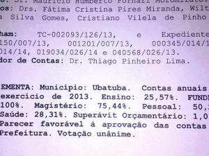 TCE aprova contas da Prefeitura em 2013