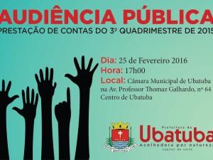 Audiência Pública – Prestação de Contas