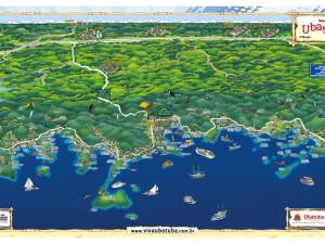 Secretaria de Turismo lança mapa caricaturado de Ubatuba