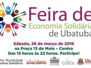 Confira a programação da primeira Feira de Economia Solidária de Ubatuba