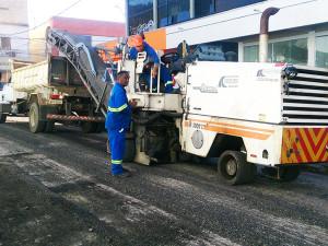 Parceria entre Comtur e Prefeitura recupera ruas da região central