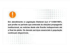 Prefeitura altera sites e redes sociais devido às eleições municipais