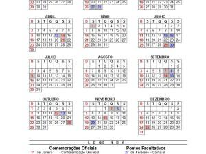 Portaria e Calendário Municipal de 2017