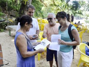 Comissão da Prefeitura de Ubatuba faz visita à Ilha das Couves