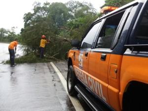 Defesa Civil de Ubatuba tem atuação frequente nos primeiros dias do ano
