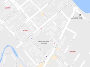 Comunicado: alteração de mão em ruas que ligam Tenório a Itaguá