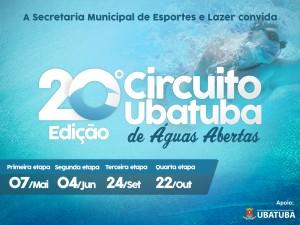 Atletas já podem se inscrever para 20ª Edição do Circuito Ubatuba de Águas Abertas
