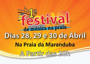 Feriado em Ubatuba tem Festival de Música na Praia