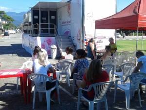Carreta da Mamografia encerra passagem por Ubatuba com mais de 1.200 exames realizados