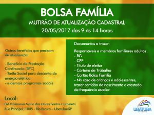 Prefeitura organiza mutirões de atualização cadastral do Bolsa Família