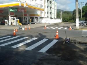 Trânsito executa melhorias pela cidade