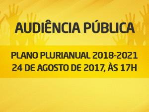 Audiência sobre o Plano Plurianual 2018-2021 de Ubatuba acontece no dia 24