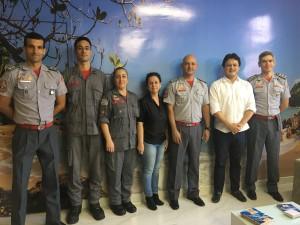 Prefeito Sato recebe representantes do Corpo de Bombeiros e GbMar