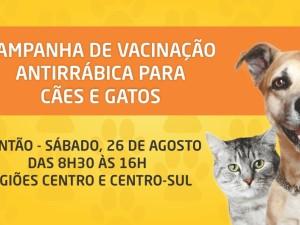Regiões Centro e Centro-Sul têm plantão de vacinação antirrábica no sábado, 26