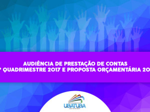Prefeitura convida para audiência de prestação de contas e proposta orçamentária 2018