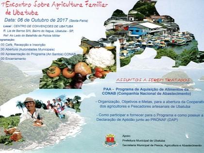 Encontro sobre Agricultura Familiar acontece na sexta, 6, em Ubatuba