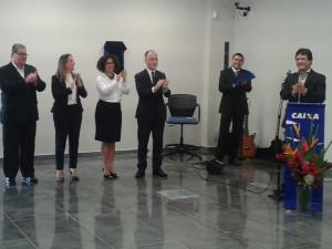 Prefeito Sato participa de cerimônia de entrega de novas instalações da Caixa em Ubatuba