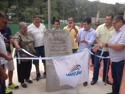 Praça Caçula é inaugurada no aniversário de Ubatuba