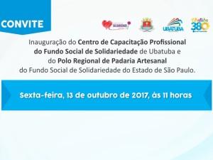 Prefeitura convida para inauguração do Centro de Capacitação Profissional