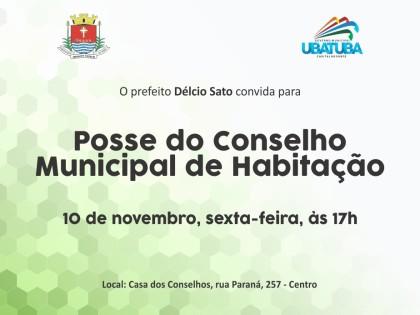 Prefeitura convida para a posse do Conselho de Habitação