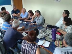 Ex-senador Eduardo Suplicy e moradores da Picinguaba reúnem-se com o prefeito Sato e secretários