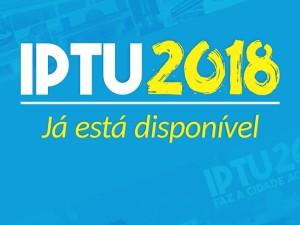 Boleto para pagamento do IPTU 2018 já pode ser emitido