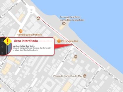 Prefeitura alerta sobre interdição parcial de via em datas de receptivo dos Cruzeiros Marítimos