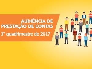 Prefeitura convida para audiência de prestação de contas e proposta de lei orçamentária para 2019